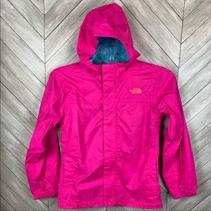 The north face girls light/rain jacket LG (14/16)